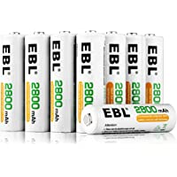 EBL 16 Pack AA 2800mAh Rechargeable Batteries with Storage Case
