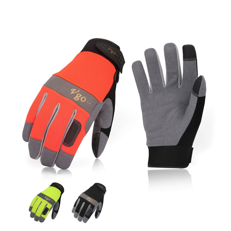 Vgo 3双入合成革 薄手 背抜き 多目的 春秋用 薄手 作業グローブ 作業用革手袋