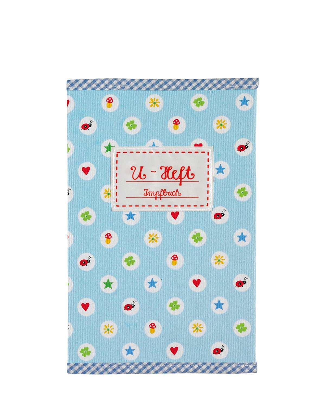 Baby Charms Checkup libro copertura in tessuto, 15x 23cm, azzurro, modello # 93181 Spiegelburg SPKNG93181