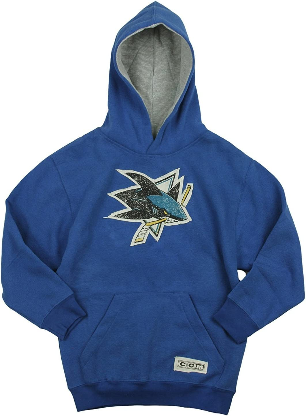 Reebok NHL Youth San Jose Sharks Team Logo Fleece Hoodie