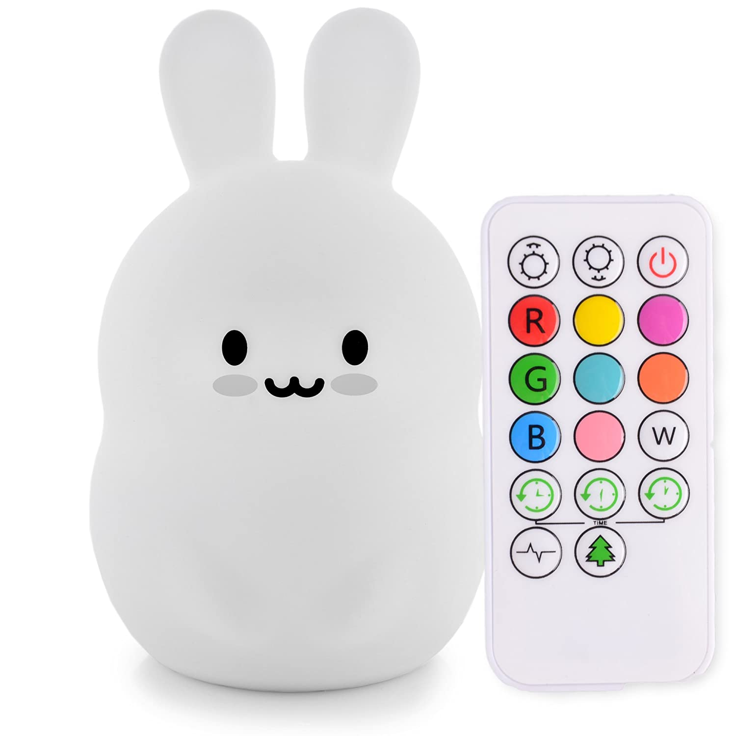 LED Nursery Night Lights for Kids: LumiPets Cute Animal Silicone Baby Night Light with Touch Sensor and Remote - Portable and Rechargeable Infant or Toddler Cool Color Changing Bright Nightlight Lamp NorthWestMade