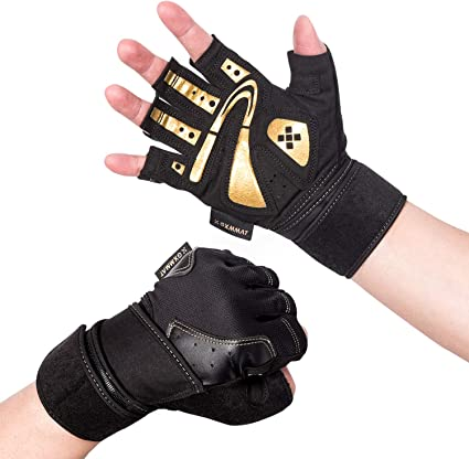 Workout Gloves for Men Women Weight Lifting Gloves Palm Support Protection Fitness Exercise Gloves Sports for Training Breathable /& Non-Slip Padded Gym Gloves