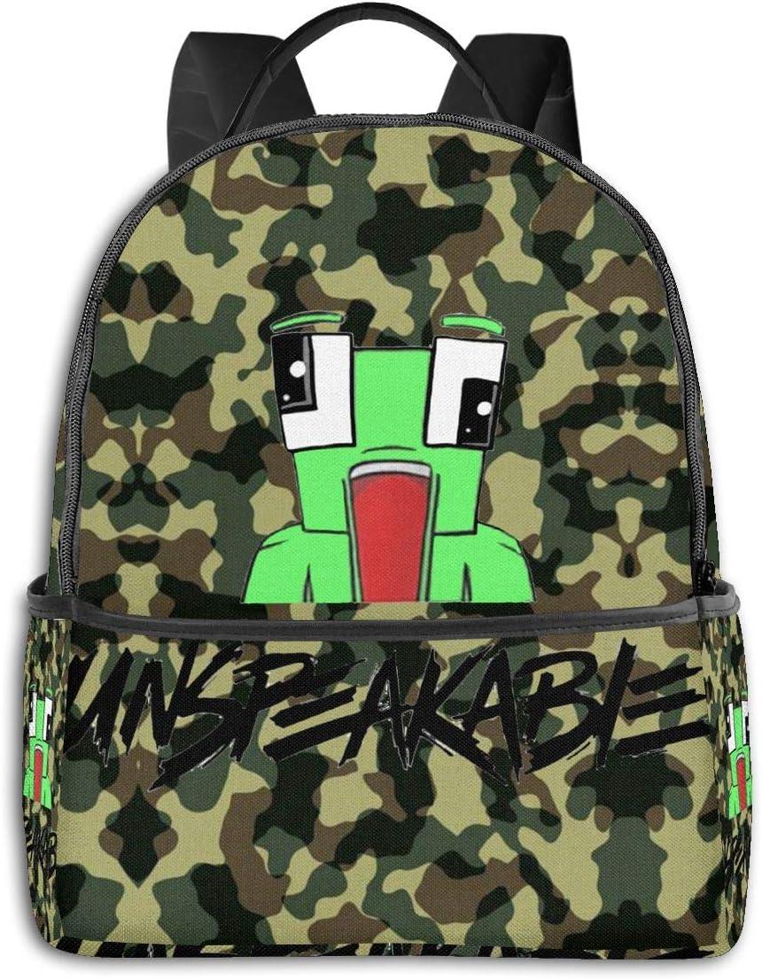 DISINIBITA Speakable Frog Backpack Laptop & Tablet Fashion Travel 15-Inch Backpack For Women Men Boy Girl Green D