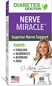 Diabetes Doctor Nerve Miracle - Neuropathy and Type 2 Diabetes Support - All-Natural Blend with Mega Dose of Alpha Lipoic Acid - for Foot and Leg Pain