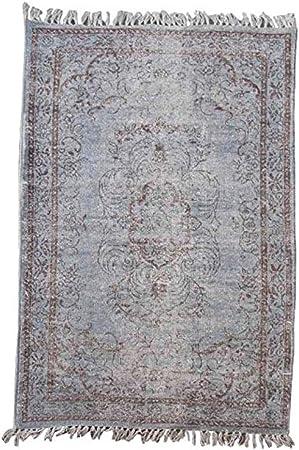 Better & Best Alfombra de algodón Tipo Vintage de 120 x 180 cm, Color Azul, 120x180x1 cm: Amazon.es: Hogar