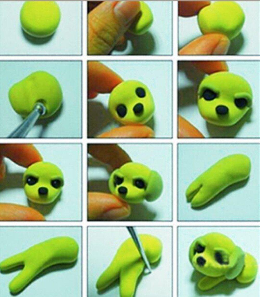 Valar Dohaeris 9 Pieces Ball Stylus Dotting Tools Set Clay Embossing Sculpting Ceramics Pottery Carving Modeling Tools