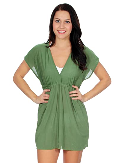 0c8483934f629 Simplicity Women's Perfect Swimwear Cover For the Beach and Pool, 1963_Green
