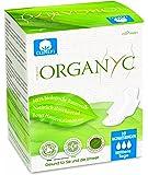 Organyc Lot de 4 paquets de 10 serviettes hygiéniques avec ailettes en coton biologique