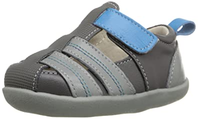 See Kai Run Caleb Fisherman Sandal (Infant/Toddler), Gray, 3 M