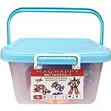 マグネットブロック 磁気おもちゃ 知育玩具 マグフォーマー 日本製収納ケース付 磁石付き積み木 創造力と想像力を育てる知育 玩具 モデルDIY マグハッピー MAGHAPPY(118ピース)