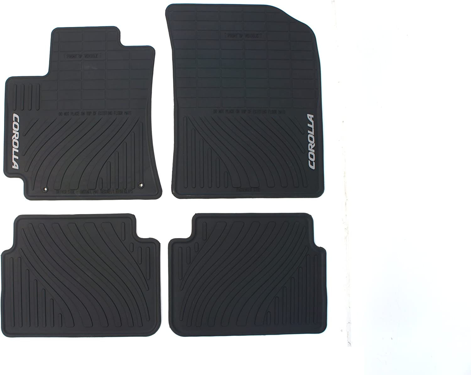 Genuine Toyota Accessories PT908-02110-20 Front and Rear All-Weather Floor Mat - (Black), Set of 4