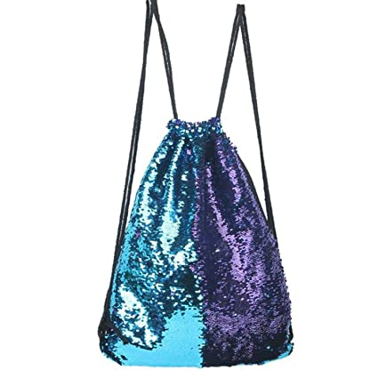 Amazon.com: Drawstring Bag Strap Panelled Double Color ...