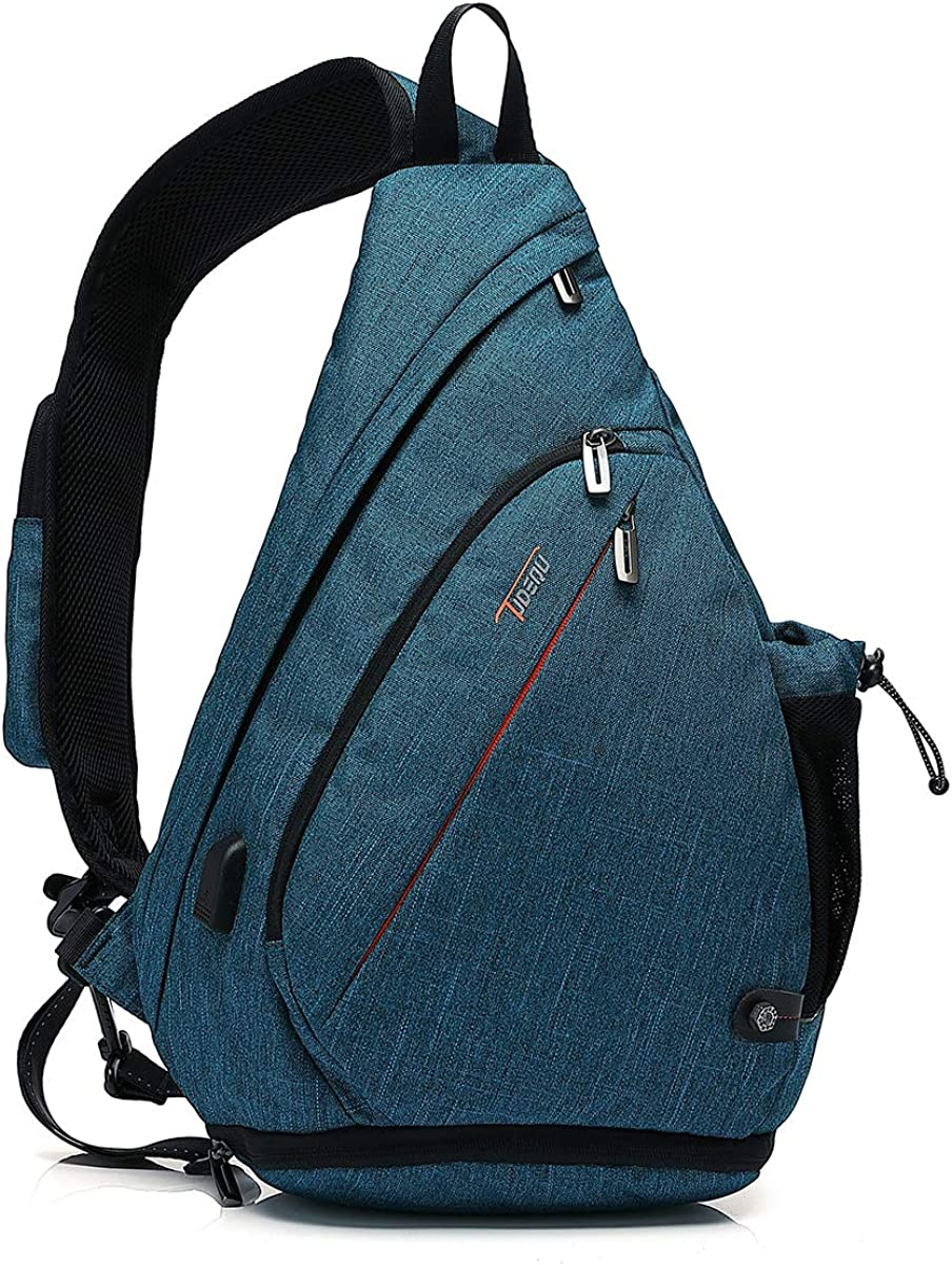 Tudequ Dry Wet Separation Sling Crossbody Chest Bag Backpack Casual Daypack