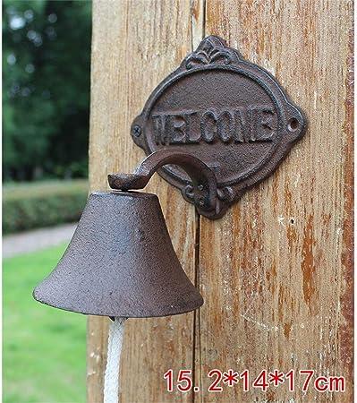 Timbre de hierro Creativo Estilo de casa de campo Codo Puerta de bienvenida Clásico Hierro fundido