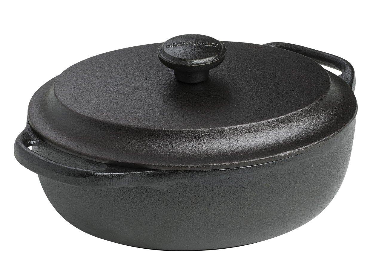 Skeppshult Original Oval Casserole w/ Cast Iron Lid, 2.1Q