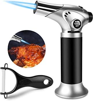 Gibot Culinary Torch Blow Torch Kitchen Refillable Butane Torch