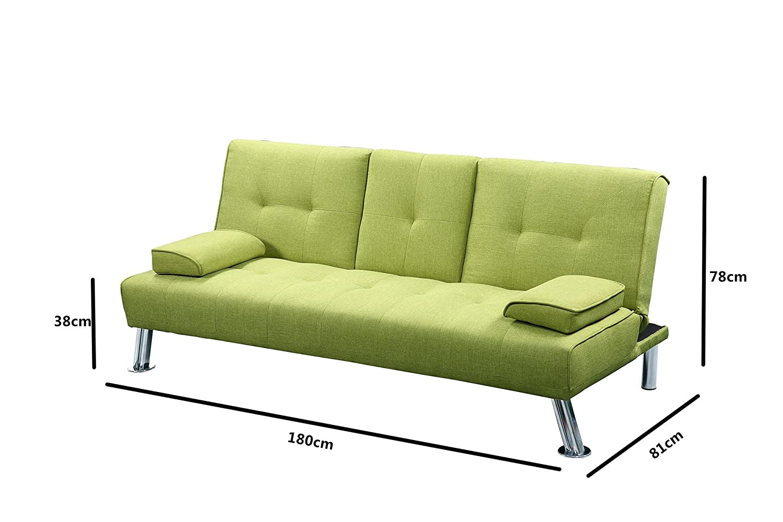 sleep design new york sofa bed grey amazon co uk kitchen home
