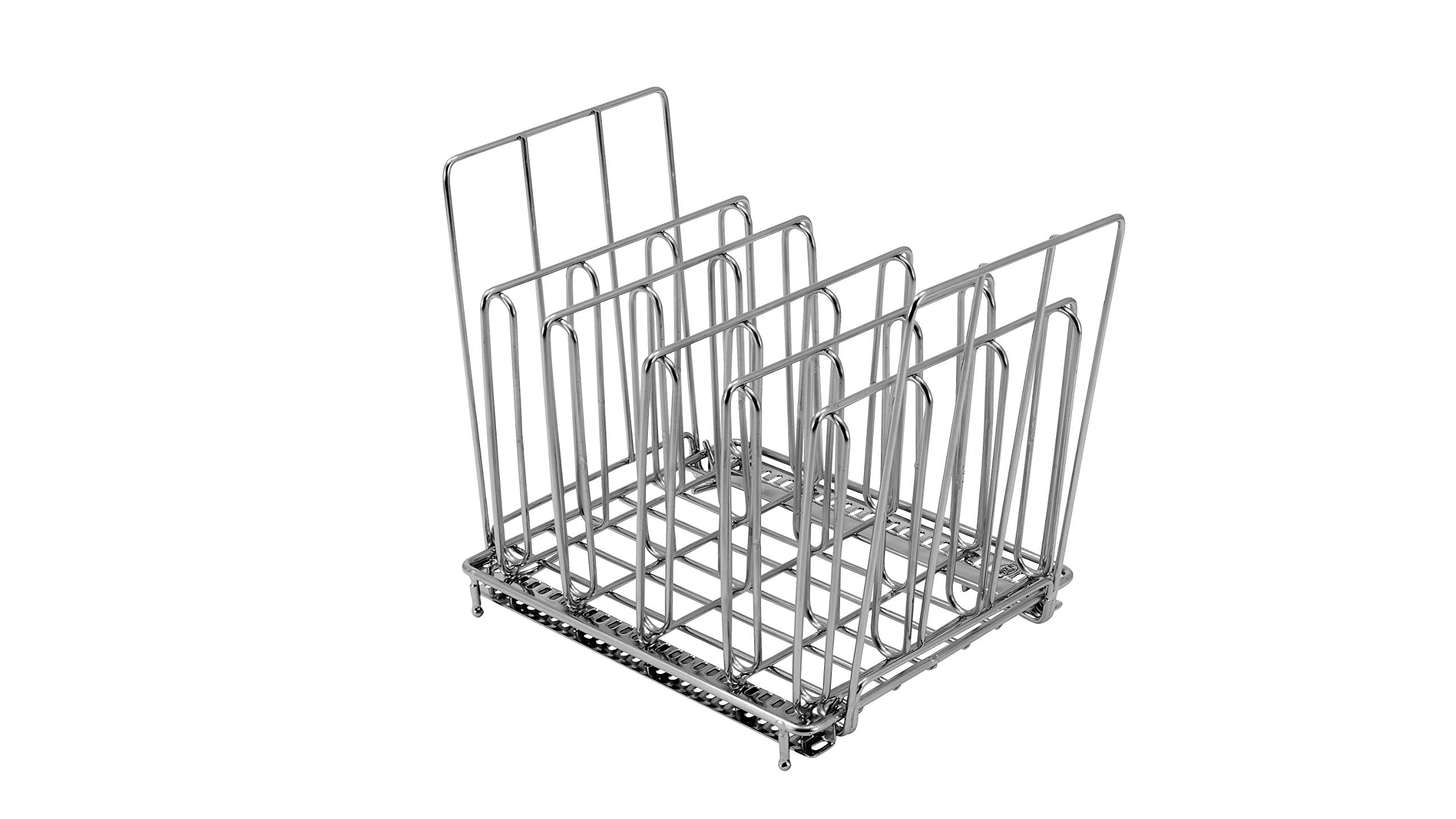LIPAVI Sous Vide Rack-Model L10- Marine Quality 316L Stainless Steel-Square 7.8 x 6.4 Inch-Adjustable, Collapsible,Ensures even and Quick warming with Sous Vide Cooking - Fits LIPAVI C10 Container by LIPAVI