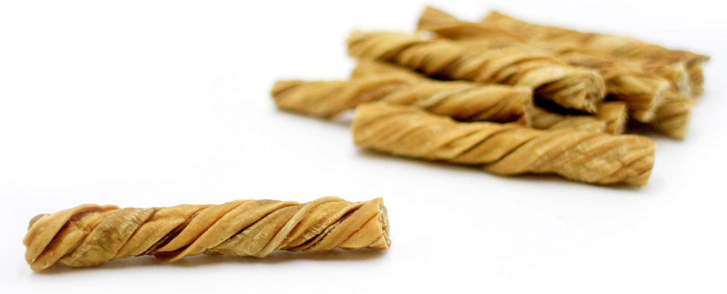 Nature Gnaws Tripe Twists - 100% Natural Dog Chew Treats - Grass Fed Beef - Single Ingredient Chewy Snack for Dogs
