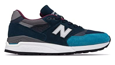 ea7b4ee90a7 New Balance Sneakers Uomo Mod. NBM998TCA Blue Made in USA: Amazon.co ...