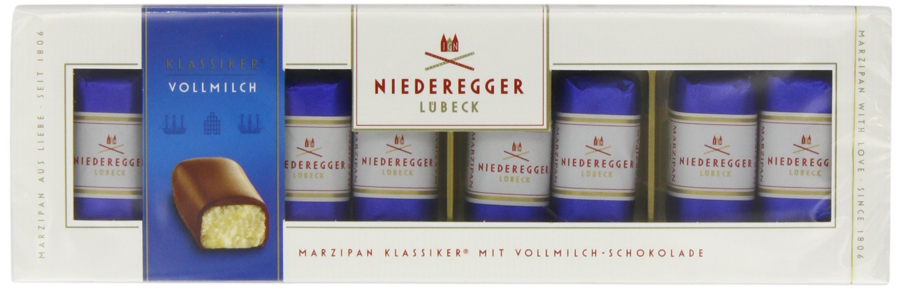 Niederegger Marzipan Milk Choc 100g - Pack of 2