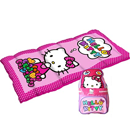 64d9030c4 Hello Kitty 2 Piece Sleeping Bag and Oxford Hello Kitty Backpack Camp Combo  by Hello Kitty: Amazon.in: Home & Kitchen