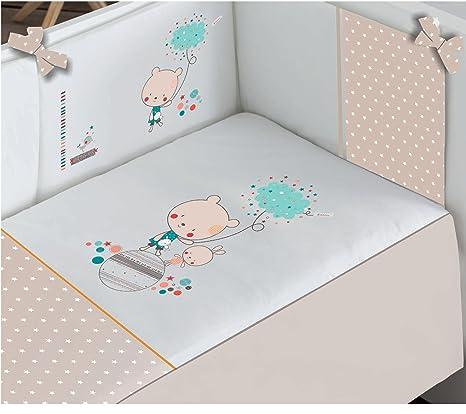 Edredón de Cuna desenfundable + protector desenfundable + Cojín Love Petite Star, tamaño CUNA 60 x 120
