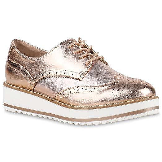 Japado Zapatos de Vestir Brogues Mujer, Color Rosa, Talla 39 EU