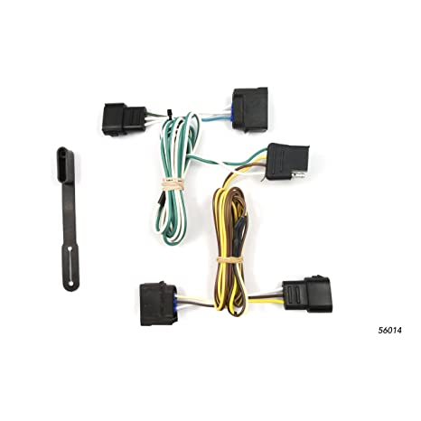 curt 56014 vehicle side custom 4 pin trailer wiring harness for select chevrolet corvette ford ranger ford focus