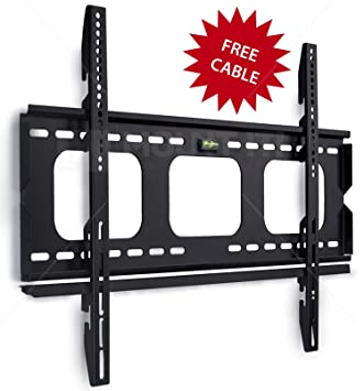 mountit low profile fixed tv wall mount bracket for 32 34