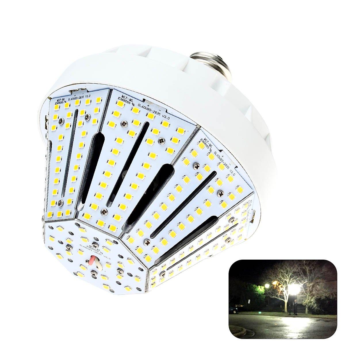 Phenas 50W LED Corn Light Bulbs E26 Base 8500 Lumens 6000K for Street Area Light, Parking Lot, Post Lighting, Gymnasium,Warehouse, Subway, Porch, Backyard, Garden Super Bright