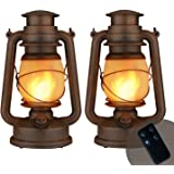 Flame Light Vintage Lantern, Flickering Camping Lantern Tent Light with Two Models LED Night Lights with Battery…