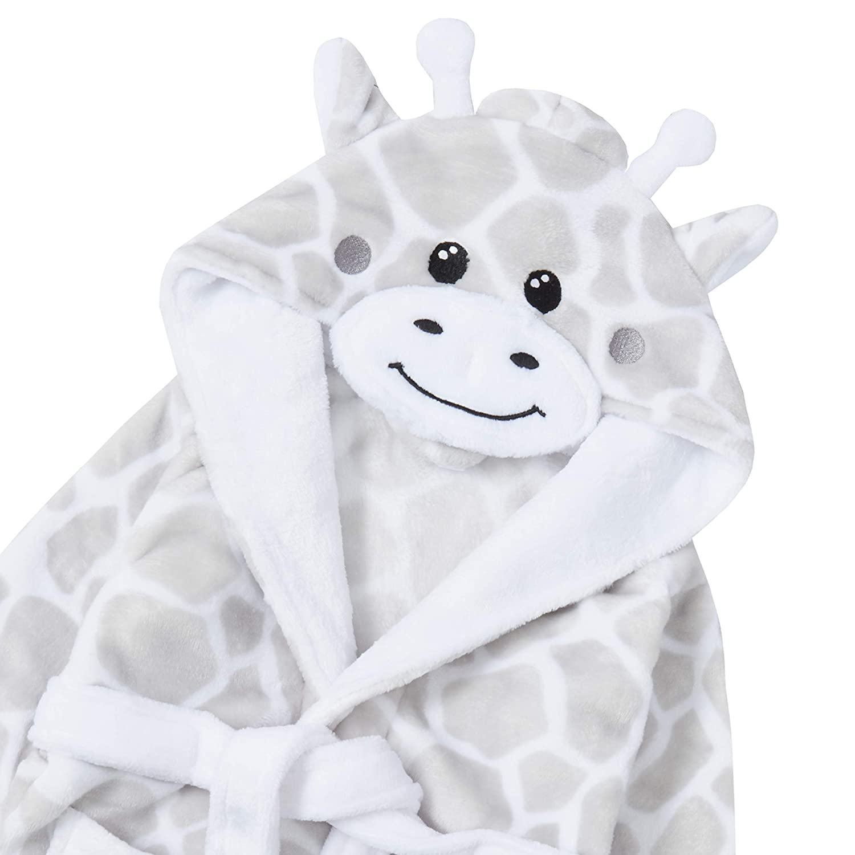 Babies Novelty Grey Giraffe Dressing Gown//Robe