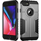 JETech Case for Apple iPhone 8 and iPhone 7, Dual Layer Protective Cover with Shock-Absorption, Silver