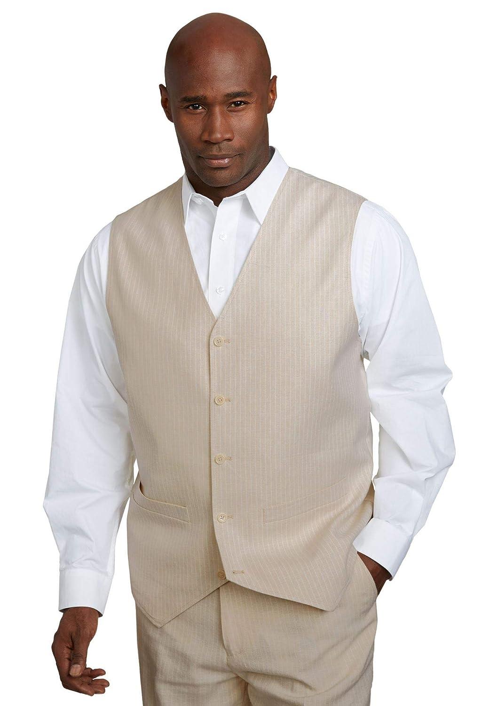 Men's Vintage Vests, Sweater Vests KS Island Mens Big & Tall Linen Blend 5 Button Suit Vest $109.99 AT vintagedancer.com