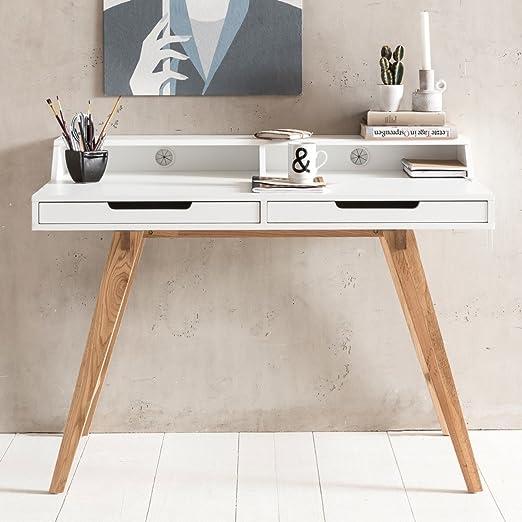 Escritorio SKANDI 110x85x60cm MDF Madera escandinava Mesa de ...