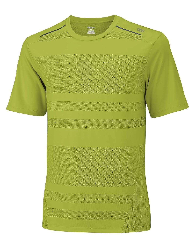 WILSON Herren Tennisbekleidung M SU Labyrinth Crew T-Shirt Tennis Herren