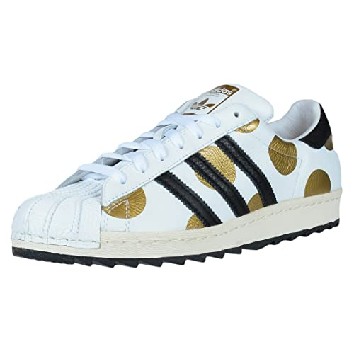 874f657ea970 Adidas Originals Obyo Jeremy Scott Js Superstar 80s Ripple White Black Gold  G61527 (7.5)
