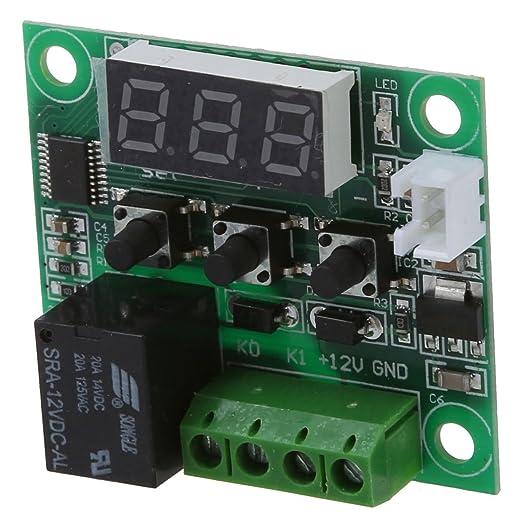 SODIAL(R) DC 12V Termostatos Interruptor sensor termico de temperatura -50 ~ 110 Celsius: Amazon.es: Bricolaje y herramientas