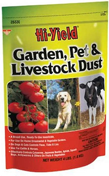 Voluntary Purchasing Group 32202 Hi-Yield Garden Pet and Livestock Dust Insect Control, 4-Pound