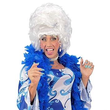 Drag Queen peluca Blanco travestie Show Fasching peluca para hombre hombres peluca CSD Soltero