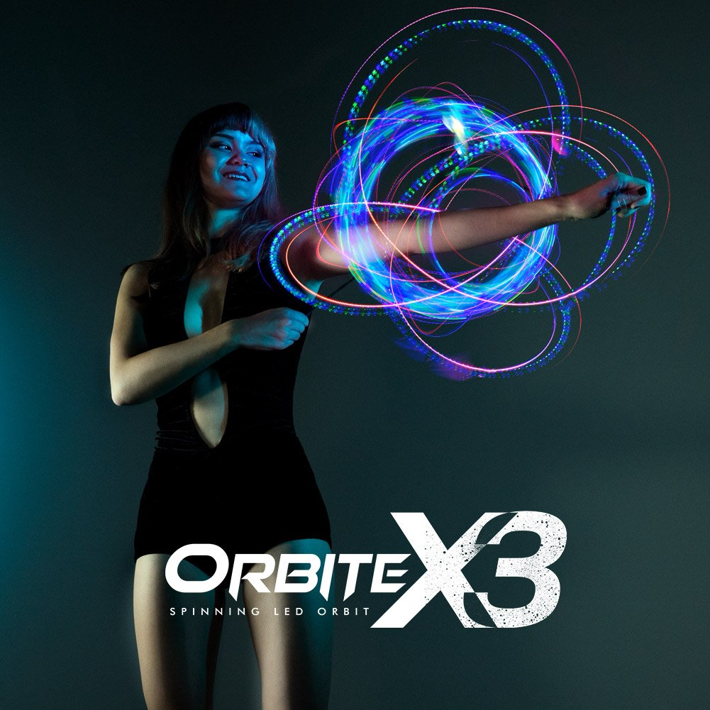 EmazingLights 4-LED Spinning Orbit: Orbite-X3 - Lightshow Orbital Rave Light Toy (Clear Casing) by EmazingLights (Image #2)