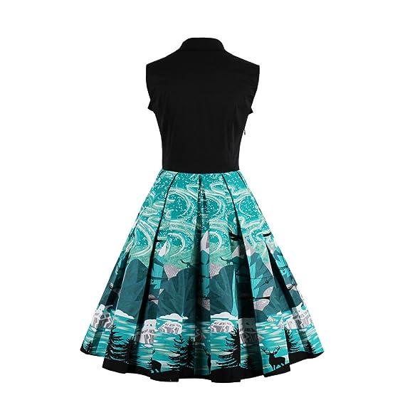 NEW women vintage sleeveless vestidos de fiesta cortos summer dress 1950s 60s green women vintage dress vestidos at Amazon Womens Clothing store: