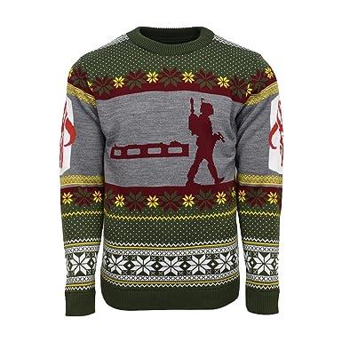 Starwars Kersttrui.Amazon Com Official Star Wars Boba Fett Nordic Ugly Christmas