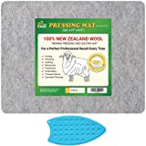 HudsonTech 24 x 17 Wool Pressing Mat for Quilting - 100% New Zealand Wool Ironing Mat Pad for Quilters