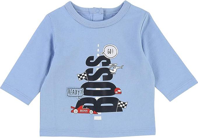 BOSS Hugo Camiseta de Manga Larga - para niño Azul Claro 80 ...