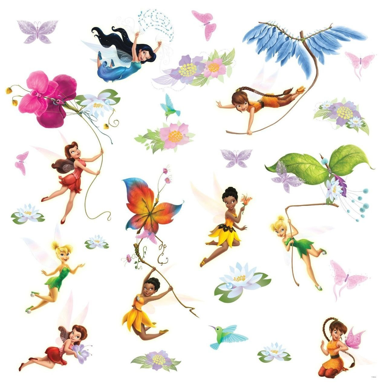 RoomMates Disney Fairies Wall Stickers RMK1493SCS