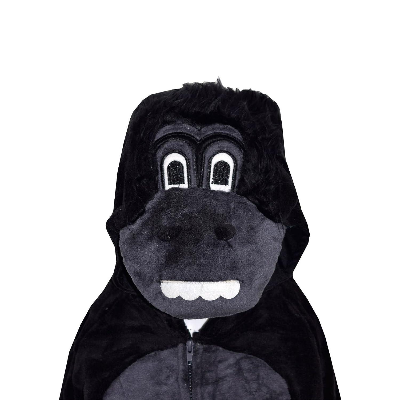 9-10 Years Gorila A2Z 4 Infantil Ni/ños Ni/ña Mono Extra Suave Mullido Gorila Todo En Uno Disfraz Halloween New 7 8 9 10 a/ños 11 12 13 14 A/ños
