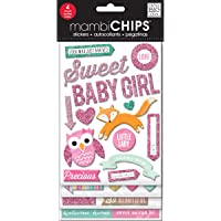 Me & My Big Ideas CBVX-35 Mambi Chips Sweet Baby Girl Scrapbooking Supplies