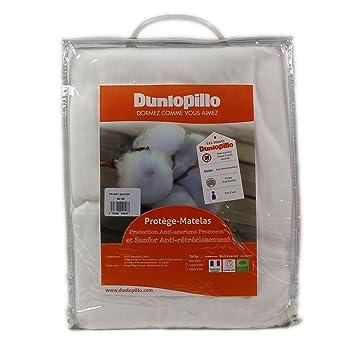 Dunlopillo PLSALPH160200DPO Protector de colchón 160 x 200 cm-Blanco: Amazon.es: Hogar